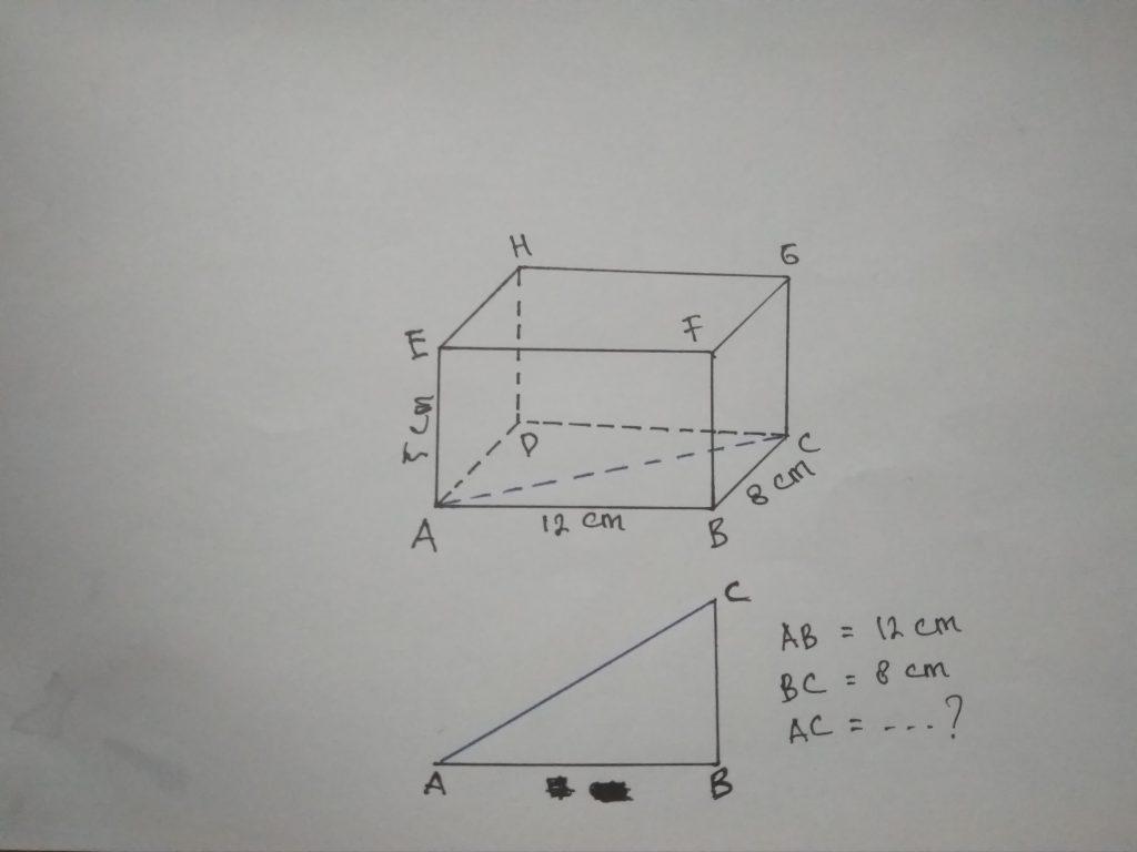Contoh Soal Diagonal Bidang Balok