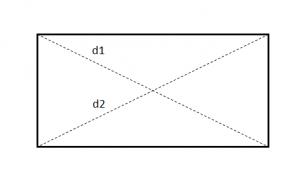 Diagonal persegi panjang