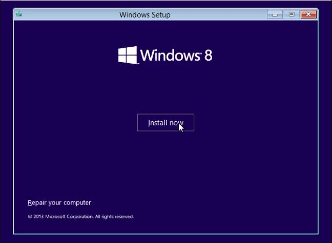 Langkah 3 Install Windows 8