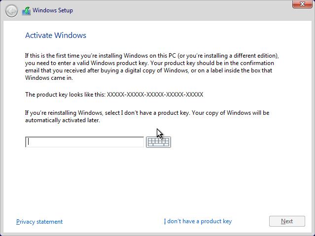 Masukan Product Key Windows 10
