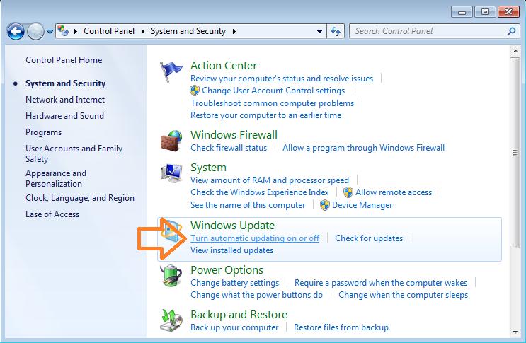 Langkah 3 Masuk Windows Update