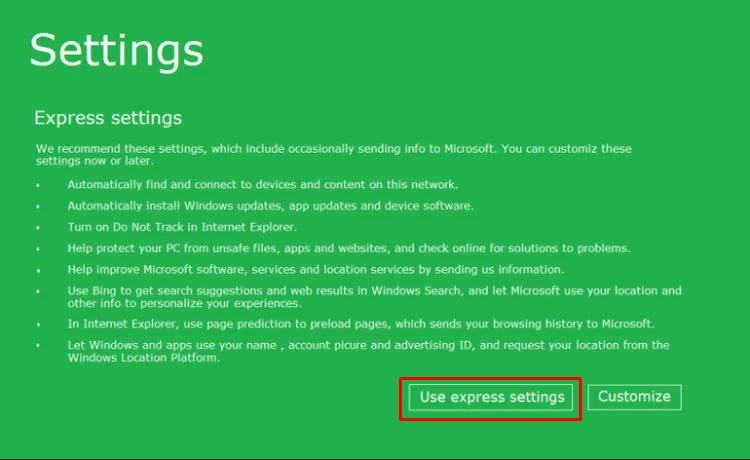 Settings Update Windows 8.1