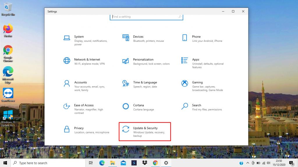 Langkah 2 Update Windows 10 Melalui Windows Update