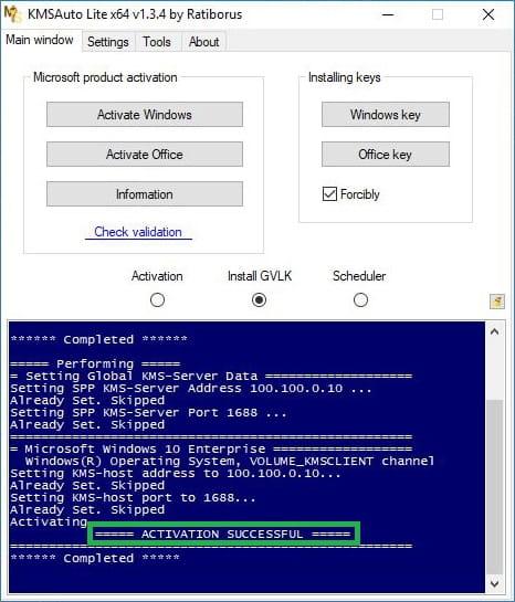 Cara Aktivasi Windows 10 Dengan KMSAtuto Lite 4