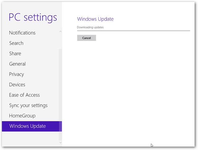 Proses Update Windows 8
