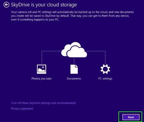 Masuk SkyDrive Windows 8