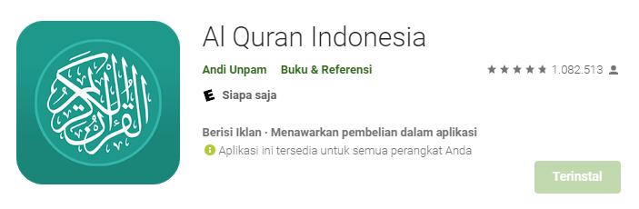 Aplikasi Al-Quran Indonesia