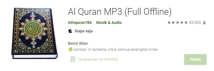 Aplikasi Al-Qur'an MP3 (Full Offline)