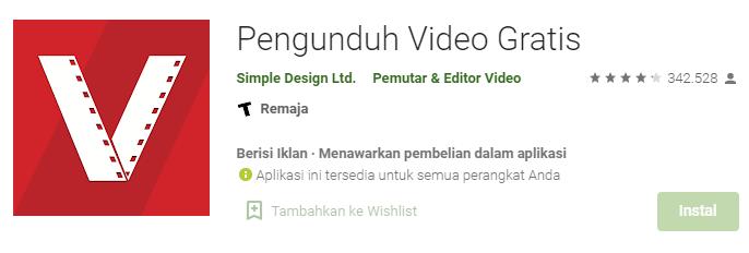 Aplikasi Download Video Youtube Vidmate