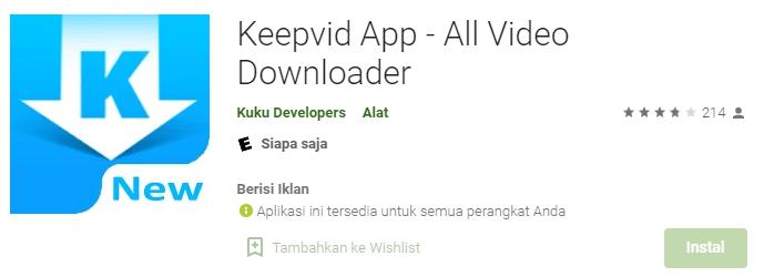Aplikasi KeepVid