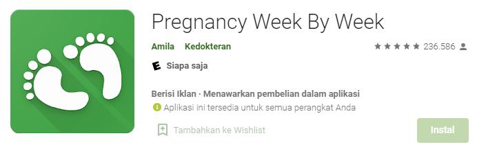 Aplikasi Pregnancy Week by Week