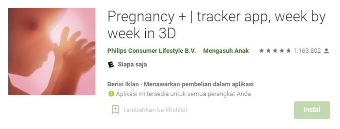 Aplikasi Ibu Hamil Pregnancy+