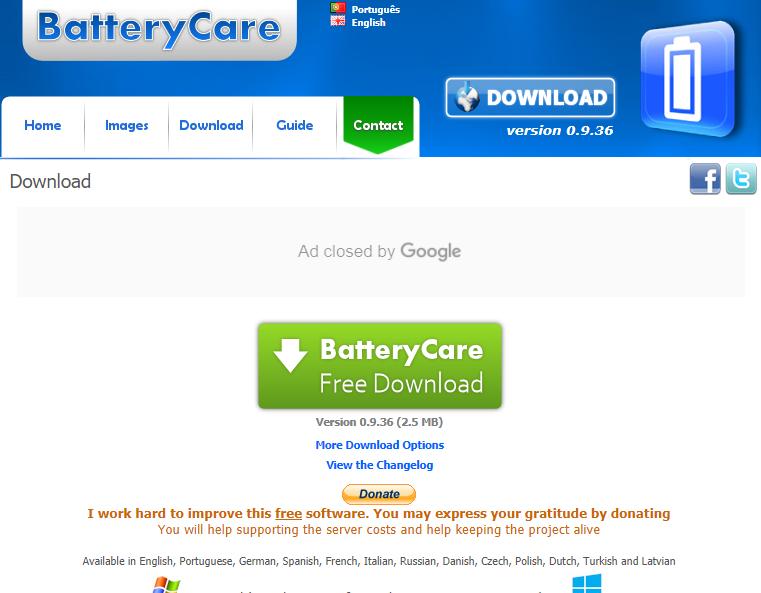 Aplikasi BatteryCare