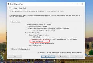 Cara Cek Ram Laptop dengan dxdiag