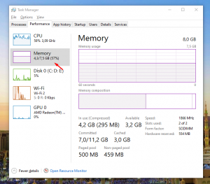 Cek RAM Laptop di Task Manager