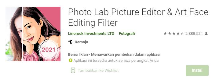 Aplikasi Photo Lab