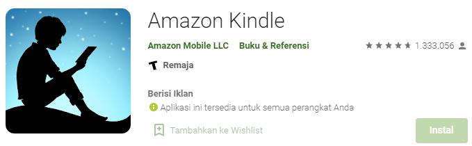 Aplikasi Amazon Kindle