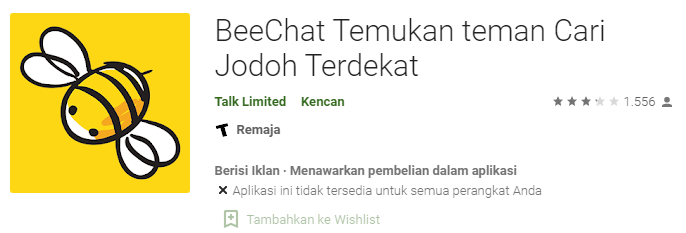 Aplikasi Jodoh Bee Chat