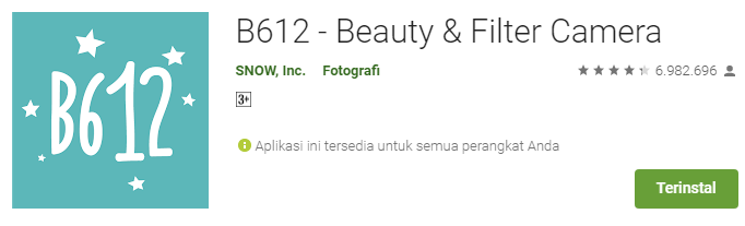 Aplikasi Kamera Terbaik B612