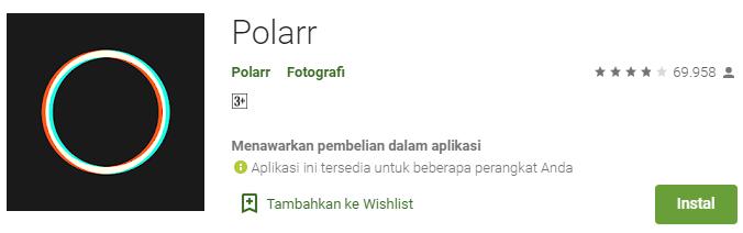 Aplikasi Kamera Terbaik Polarr