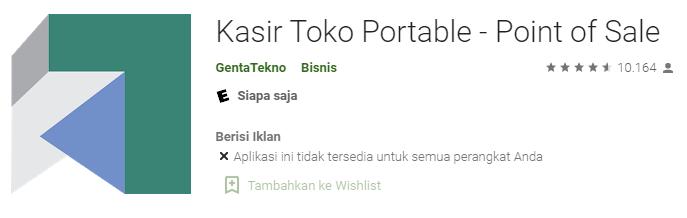 Aplikasi Kasir Toko Portable