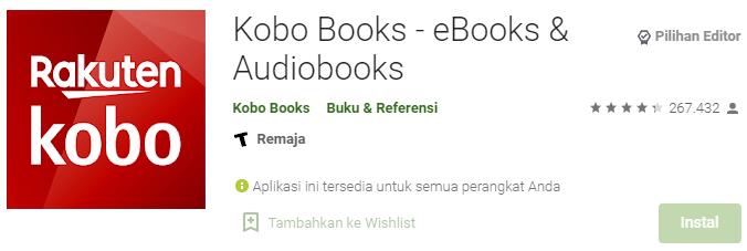 Aplikasi Kobo Books