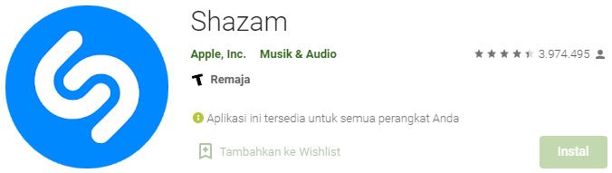 Aplikasi Musik Shazam
