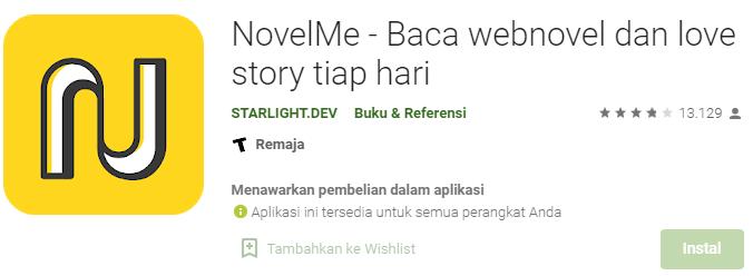 Aplikasi NovelMe