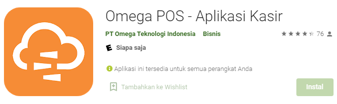 Aplikasi Kasir Omega Plus