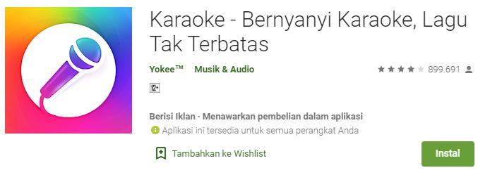 Aplikasi Karaoke – Bernyanyi Karaoke, Lagu Tak Terbatas