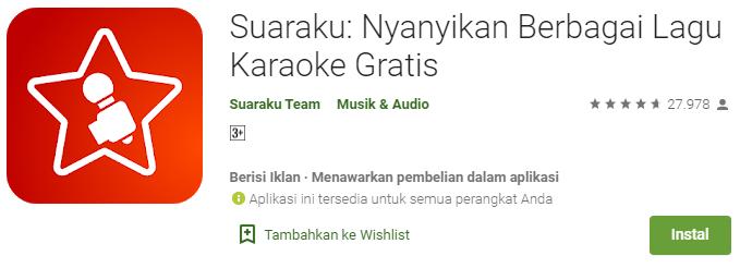 Suaraku: Nyanyikan Berbagai Lagu Karaoke Gratis
