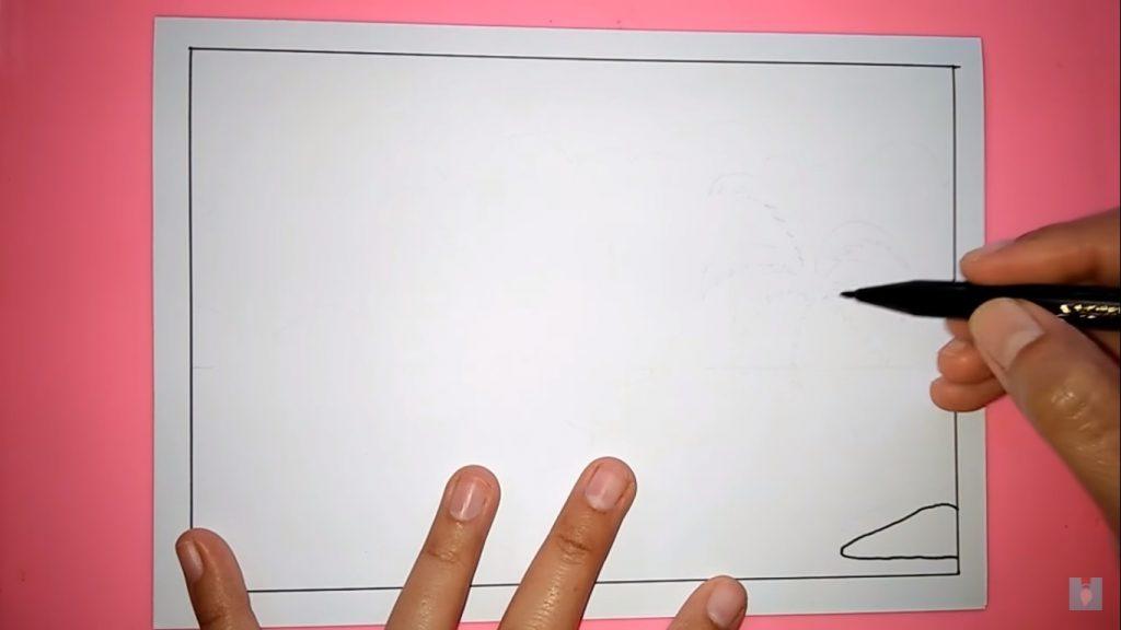 Cara Menggambar Sketsa Pemandangan