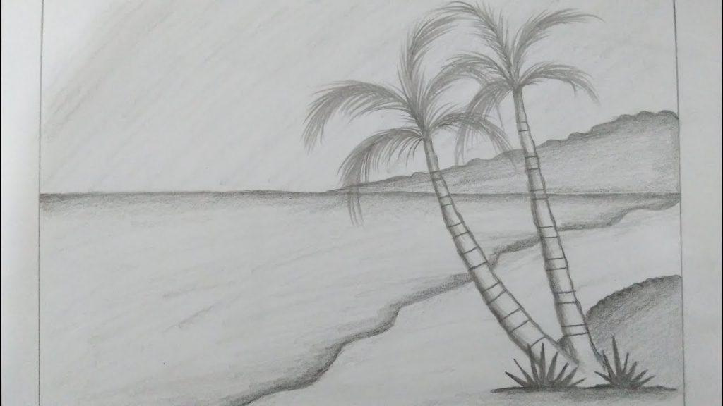 Gambar Pemandangan Pantai Simple